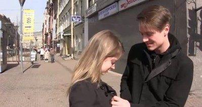 Познакомился на улице и отменно провёл время с наивной девочкой